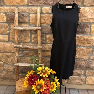 Simple black dress with cut outs